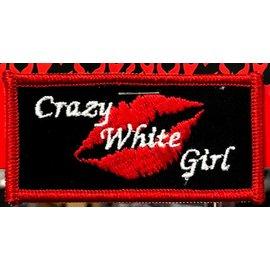 First Coast Biker Gear Patch Crazy White Girl 3in