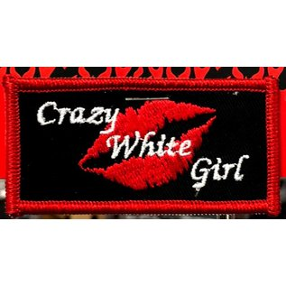 Route 66 Biker Gear Patch Crazy White Girl 3in