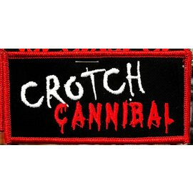 Route 66 Biker Gear Patch Crotch Cannibal 4in