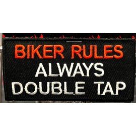 Ozark Biker Shop Patch Biker Rules 3in