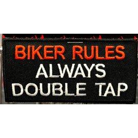 Ozark Biker Shop Patch Biker Rules 3in