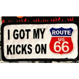 Ozark Biker Shop Patch Kicks Route 66 3in