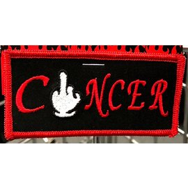 Route 66 Biker Gear Patch Customizable Fuck Cancer 4in