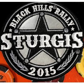 Hot Leather Patch Sturgis Sheriff Badge