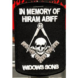 Ozark Biker Shop Patch Memory of Hiram Abiff 4in