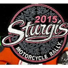 Hot Leather Patch Sturgis Paisley Circle 2015