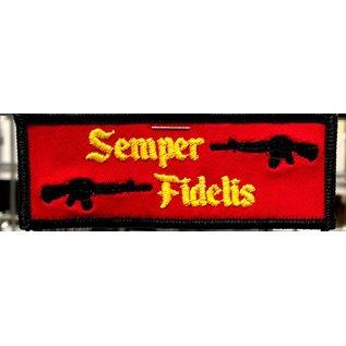 First Coast Biker Gear Patch Semper FI Red/Blk 4in