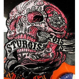 Hot Leather Patch Sturgis Banner Skull 2015