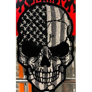 Route 66 Biker Gear Patch American Skull Subdued 3in