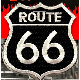 Miscellaneous Patch Route 66 Black 3in
