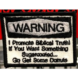 Patch WARNING Biblical Truth 4in