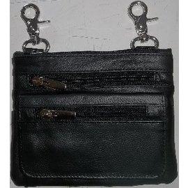 Jerwolf Enterprises Clip Purse Double Zipper Black