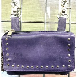 Unik Studded Clip Pouch Purple