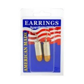 Eagle Emblems Earrings Bullet