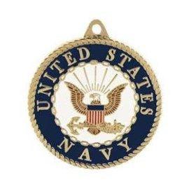 Eagle Emblems Keychain Navy