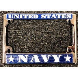 Eagle Emblems License Frame Navy
