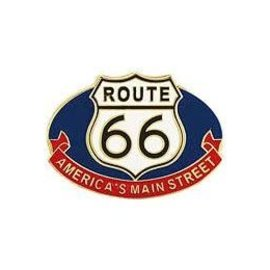 Eagle Emblems Pin Route 66 Main St