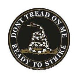 Eagle Emblems Tin Sign Don't Tread On Me Blk