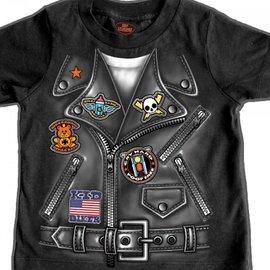 Hot Leather Boy Tee Fake Jacket 2T