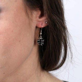 Hot Leather Earring Iron Cross