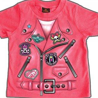 Hot Leather Girl Tee Fake Jacket 12MO