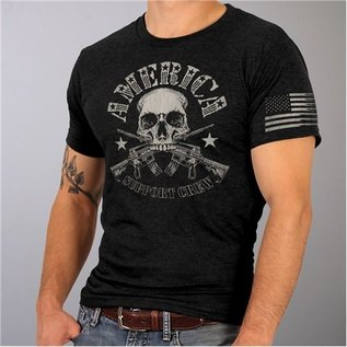 Hot Leather Shirt American Support Crew