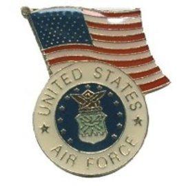Biker's Stuff Pin Air Force US Flag