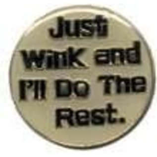 Biker's Stuff Pin Just Wink