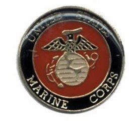 Biker's Stuff Pin Marine Round