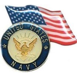Biker's Stuff Pin Navy US Flag