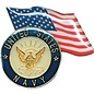 Biker's Stuff Pin Navy US Flag
