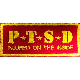 Route 66 Biker Gear Patch PTSD Red/Yellow 3 in