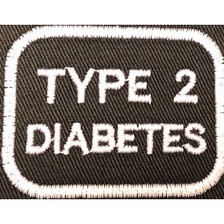 First Coast Biker Gear Patch Medical Alert Type 2 Diabetes 2in