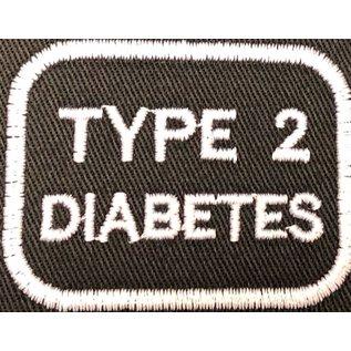 Route 66 Biker Gear Patch Medical Alert Type 2 Diabetes 2in