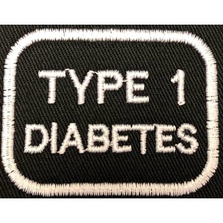 Route 66 Biker Gear Patch Medical Alert Type 1 Diabetes 2in
