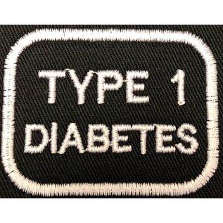 Route 66 Biker Gear Patch Medical Alert Type 1 Diabetes 2in