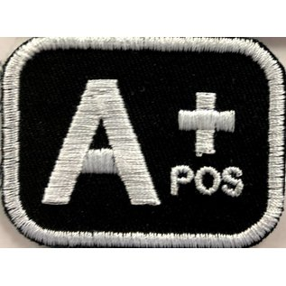 Route 66 Biker Gear Patch Blood Type A Pos 2in