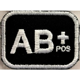 First Coast Biker Gear Patch Blood Type AB Pos 2in