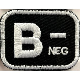 Route 66 Biker Gear Patch Blood Type B Neg 2in