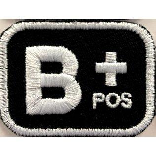 Route 66 Biker Gear Patch Blood Type B Pos 2in