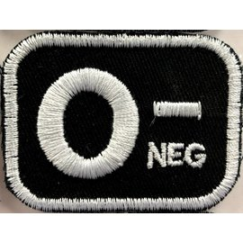 Route 66 Biker Gear Patch Blood Type O Neg 2in