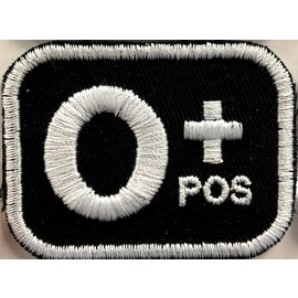 First Coast Biker Gear Patch Blood Type O Pos 2in