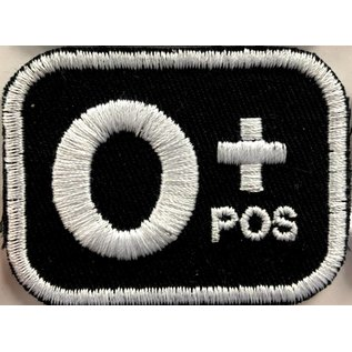 Route 66 Biker Gear Patch Blood Type O Pos 2in