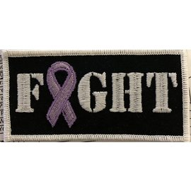 Route 66 Biker Gear Patch Fight Custom Awareness Ribbon 4in