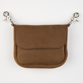 Mascorro Leather Clip Pouch Brown