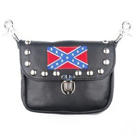 Mascorro Leather Clip Pouch Rebel Flag