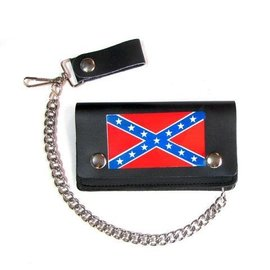 Mascorro Leather Wallet Rebel Flag 6 in