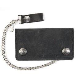Mascorro Leather Wallet Buffalo Snap 6 in