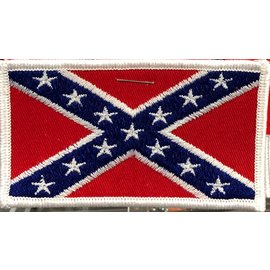 First Coast Biker Gear Patch Confederate Flag Wht Trim 3 in