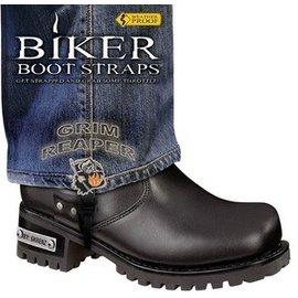 Biker Boot Straps Biker Boot Strap Grim Reaper 6in